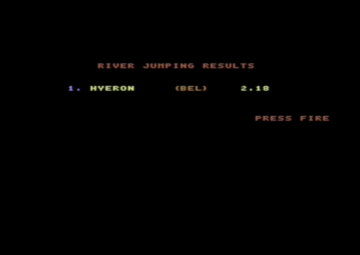 Alternative World Games [River Jump] 218 points