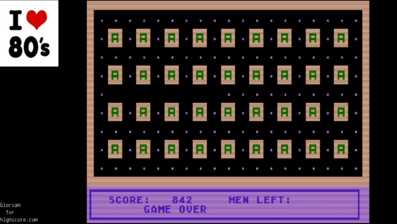 Giorvam: Amazing (Atari 400/800/XL/XE Emulated) 842 points on 2020-01-01 14:14:53