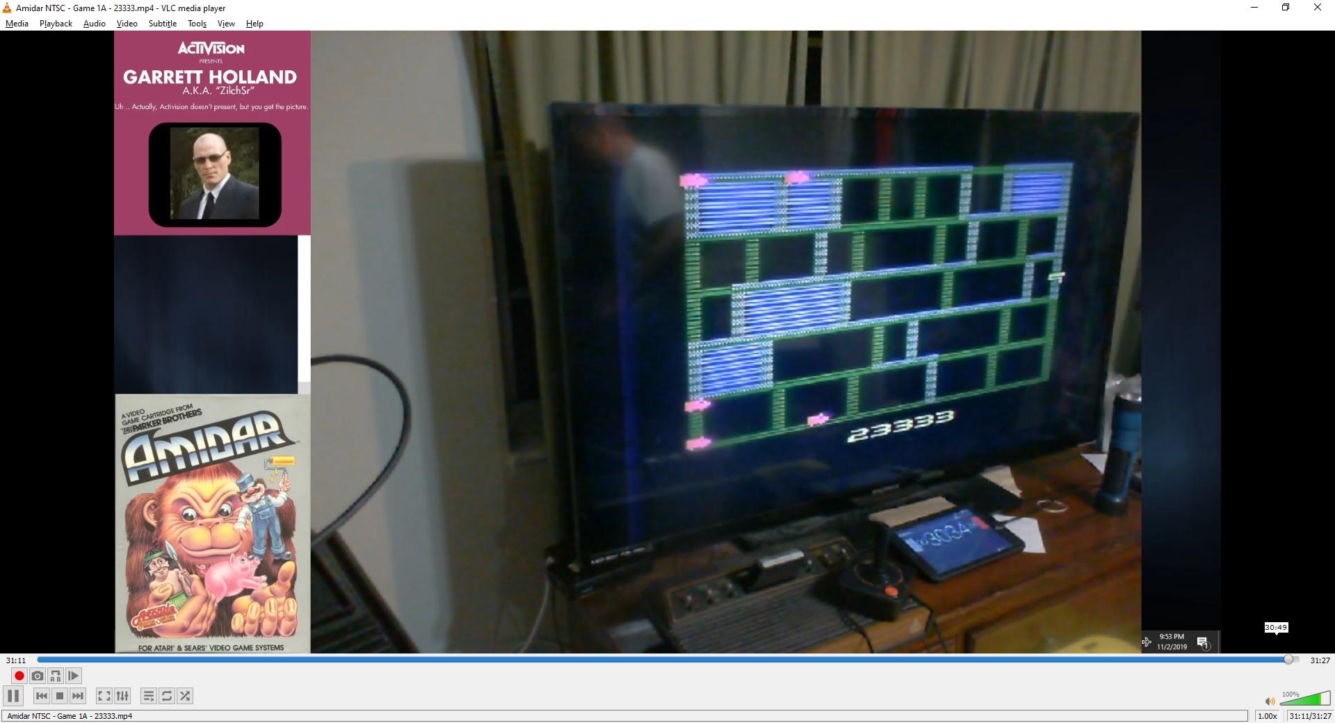 ZilchSr: Amidar (Atari 2600 Expert/A) 23,333 points on 2019-11-03 14:42:51