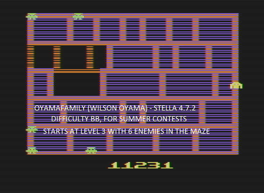 oyamafamily: Amidar (Atari 2600 Emulated Novice/B Mode) 11,231 points on 2016-07-31 20:30:45