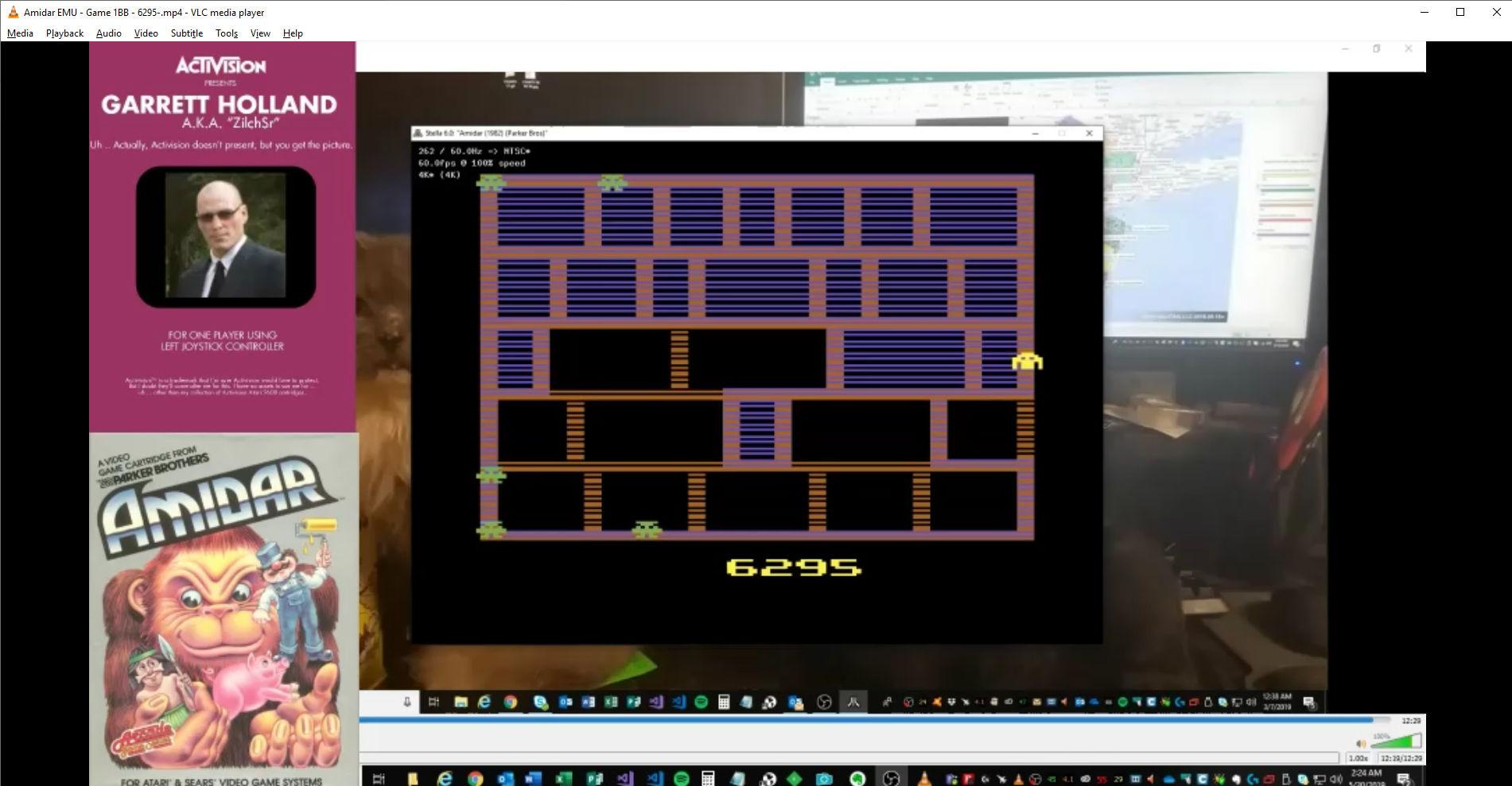 ZilchSr: Amidar (Atari 2600 Emulated Novice/B Mode) 6,295 points on 2019-05-30 01:46:40