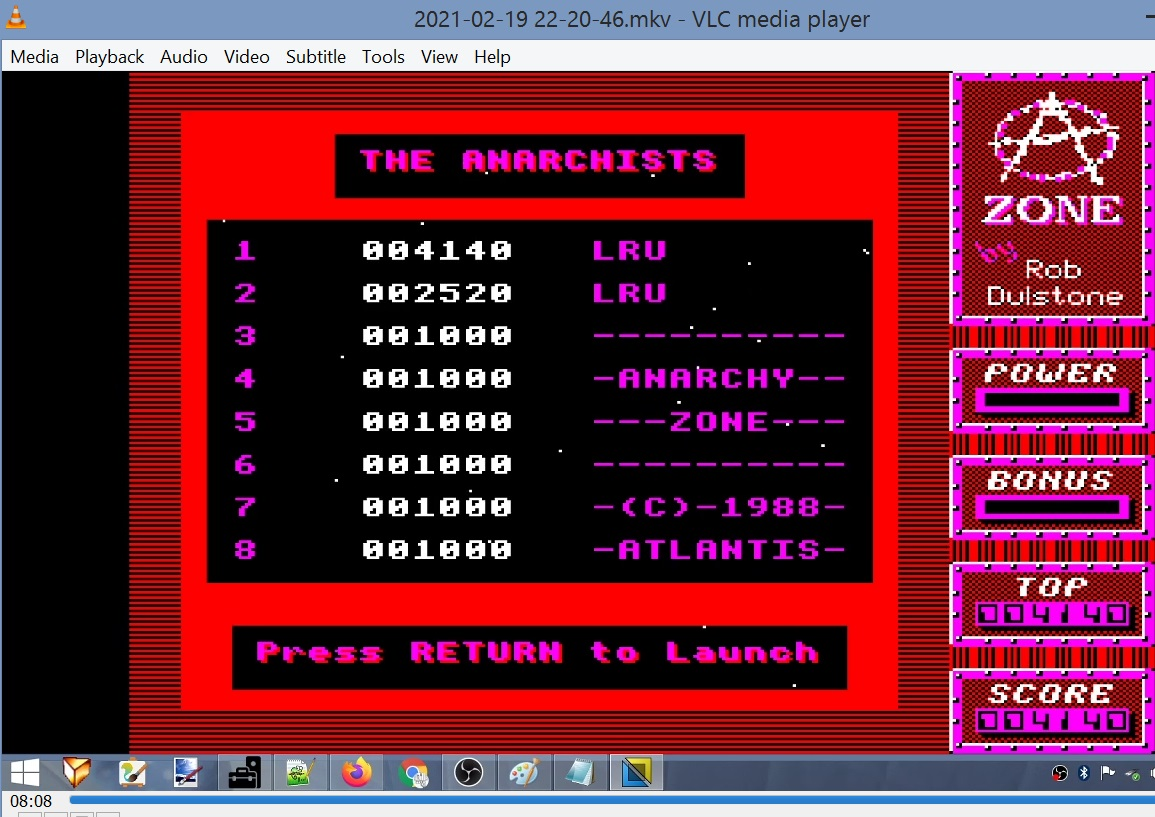 LuigiRuffolo: Anarchy Zone (BBC Micro Emulated) 4,140 points on 2021-02-19 17:02:55