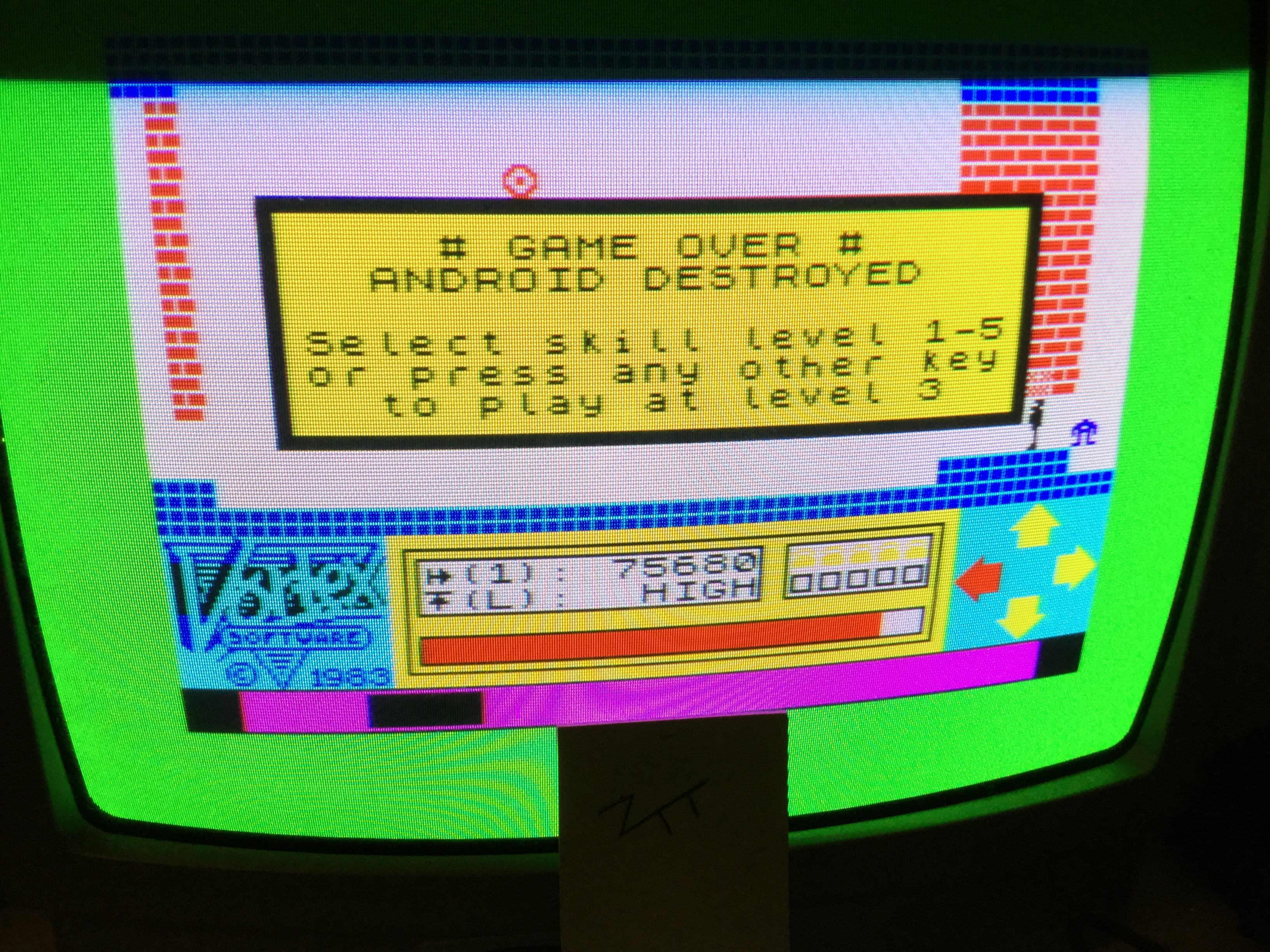 Frankie: Android One [Level 1] (ZX Spectrum) 75,680 points on 2017-12-23 07:56:57