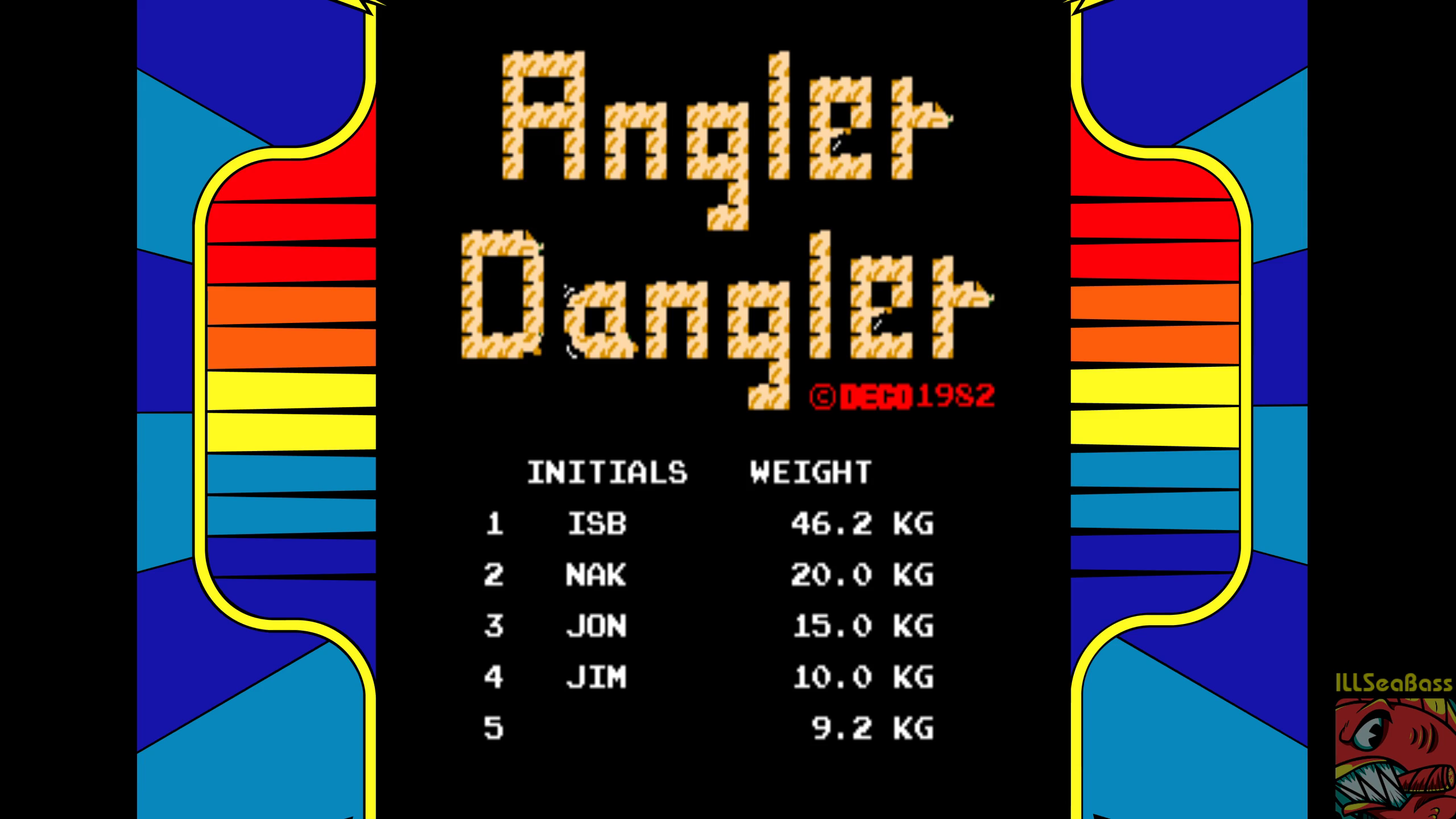 ILLSeaBass: Angler Dangler [DECO Cassette] [cadanglr] (Arcade Emulated / M.A.M.E.) 46,200 points on 2018-08-05 21:22:40