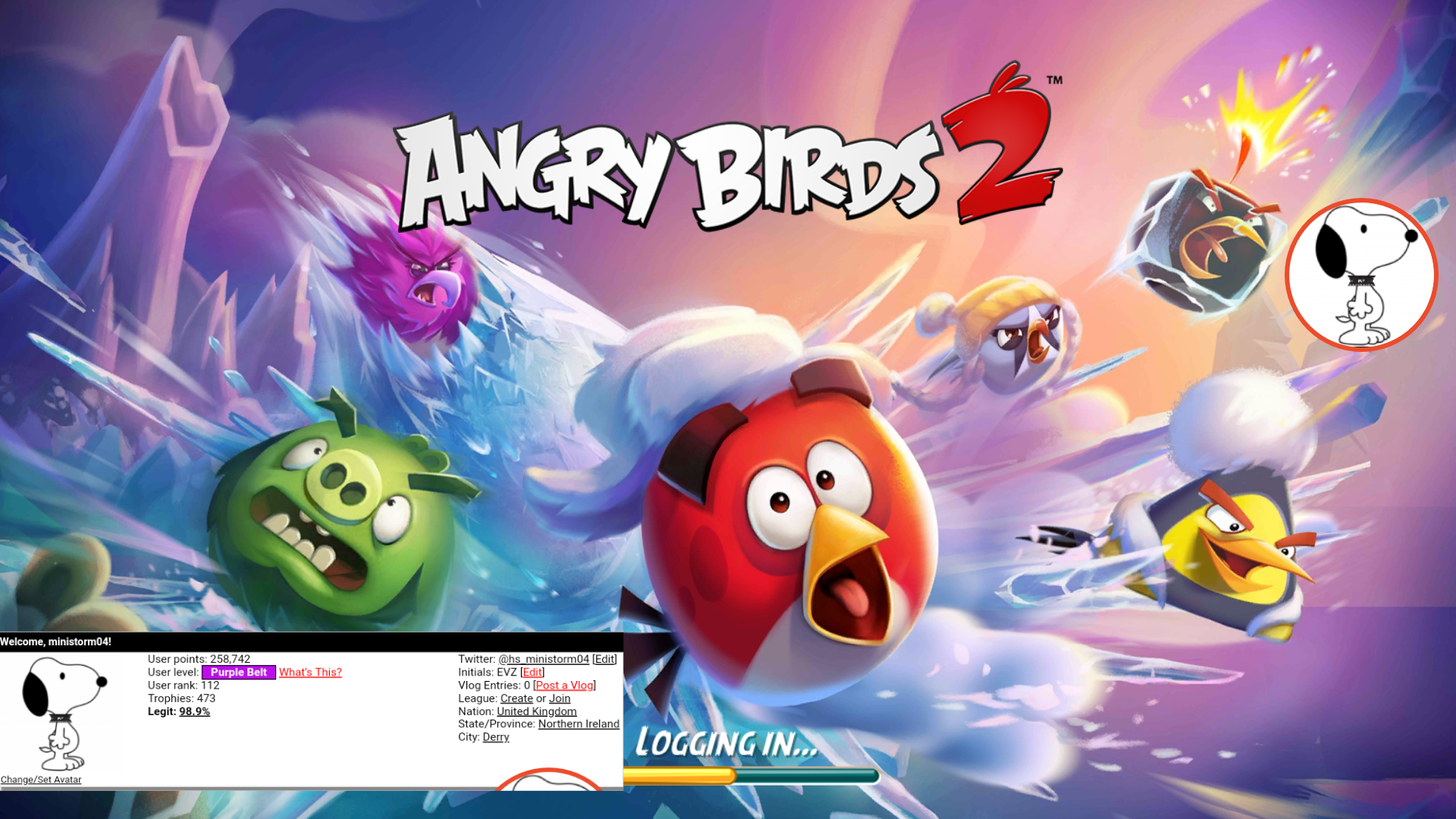 Angry Birds 2: Level 1 297,679 points