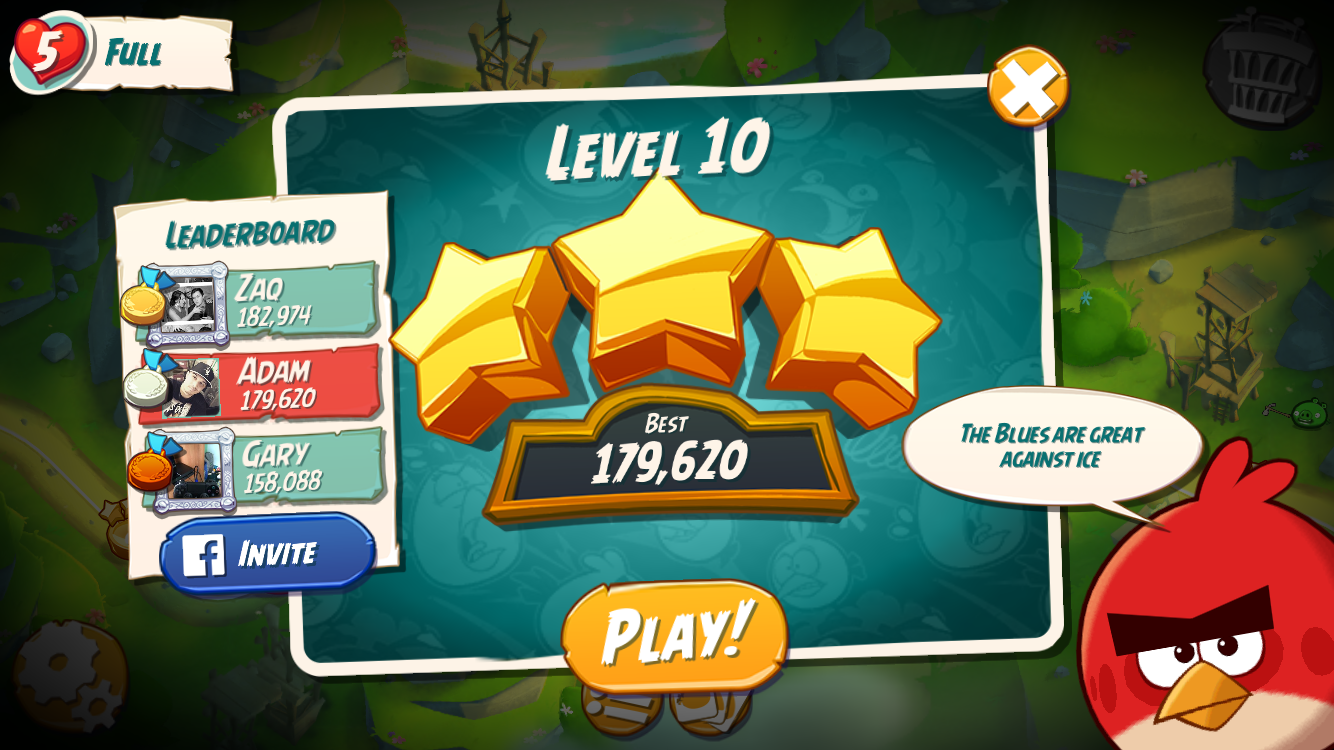 FosterAMF: Angry Birds 2: Level 10 (iOS) 179,620 points on 2015-10-22 03:04:57