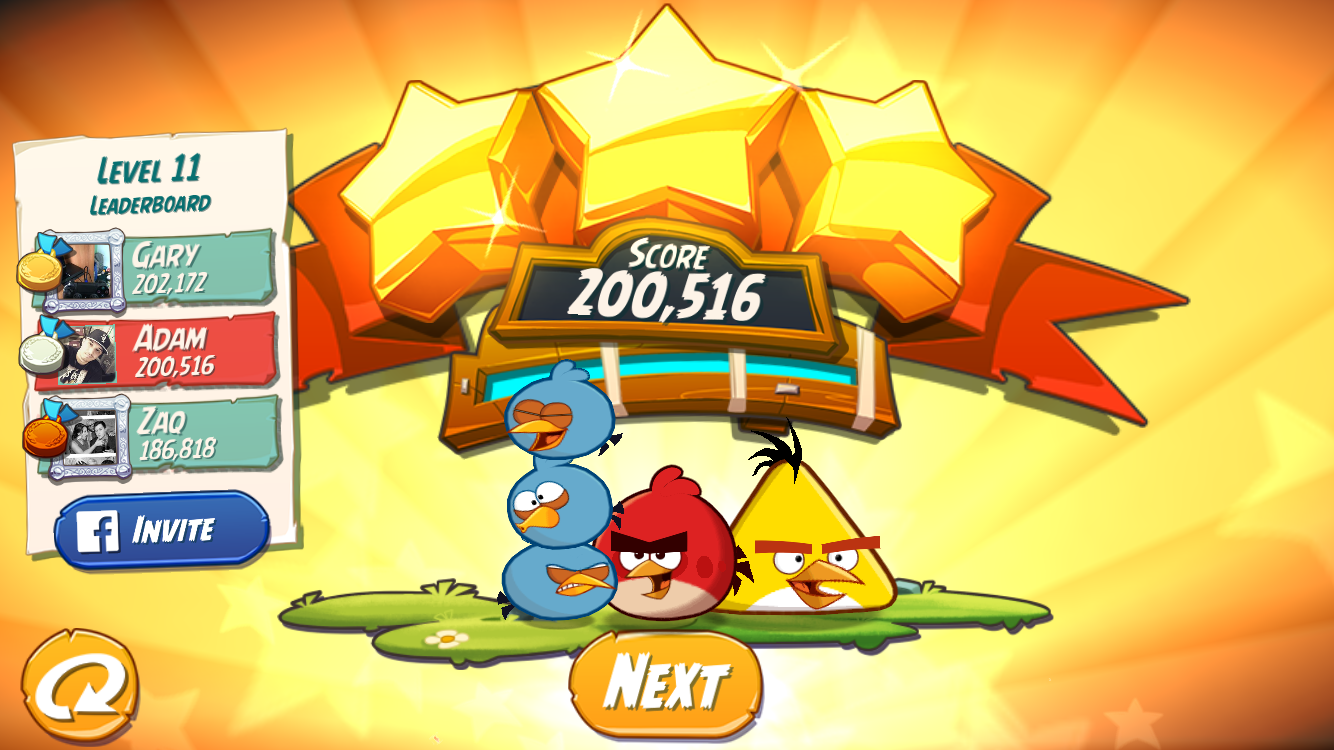 FosterAMF: Angry Birds 2: Level 11 (iOS) 200,516 points on 2015-10-22 14:03:59