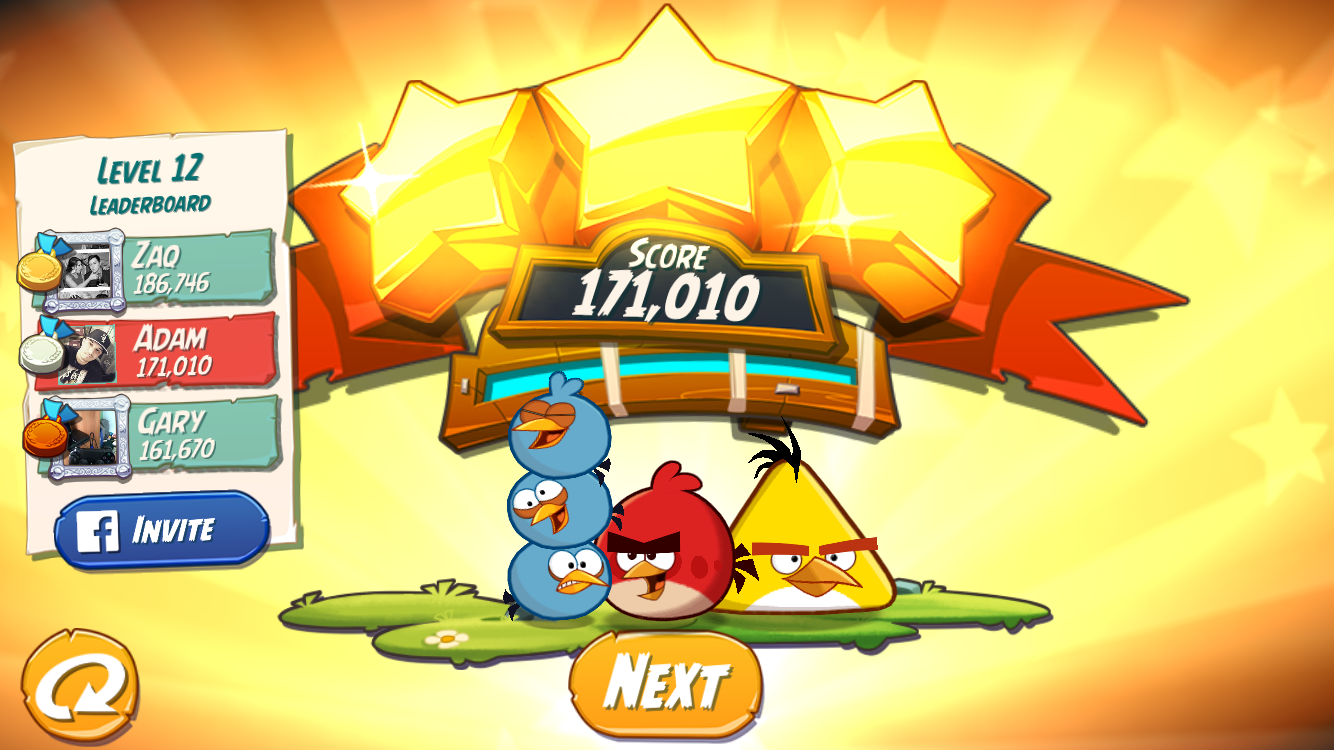 FosterAMF: Angry Birds 2: Level 12 (iOS) 171,010 points on 2015-10-22 14:06:11
