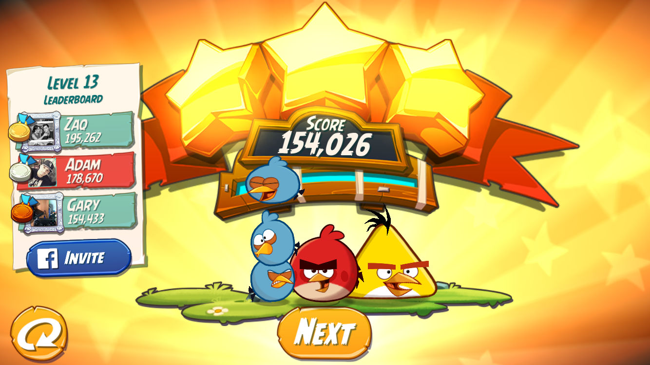 FosterAMF: Angry Birds 2: Level 13 (iOS) 154,026 points on 2015-10-26 23:47:09