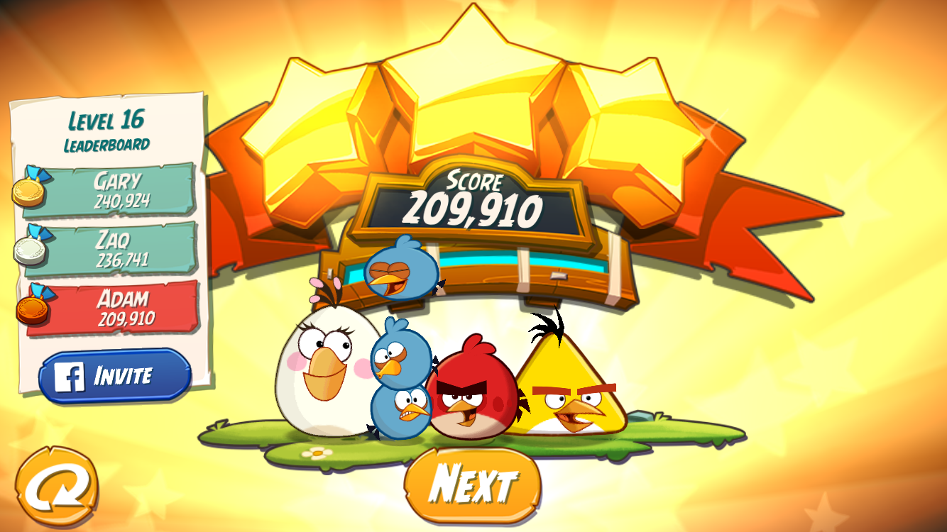 FosterAMF: Angry Birds 2: Level 16 (iOS) 209,910 points on 2015-10-26 23:53:30