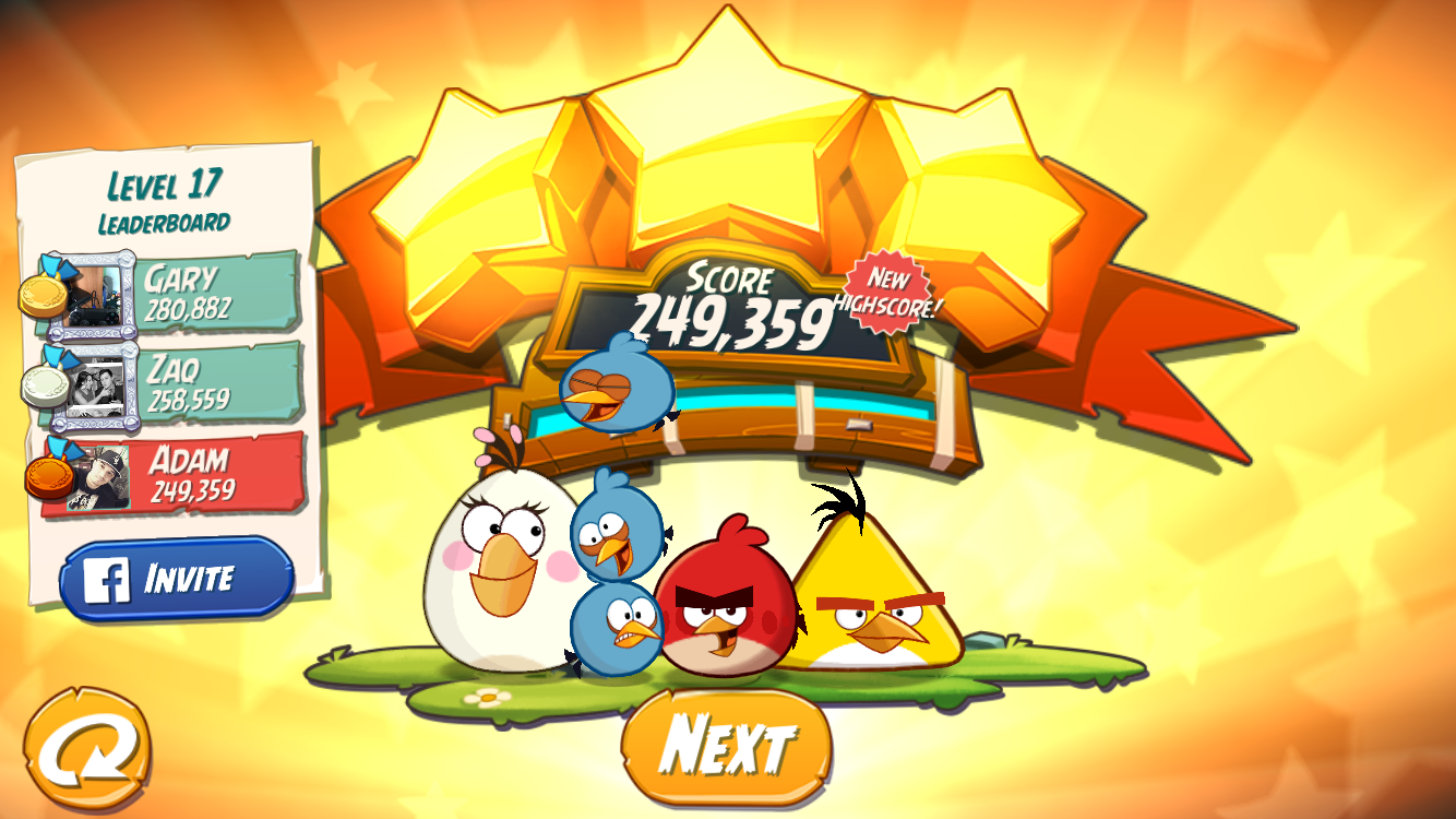FosterAMF: Angry Birds 2: Level 17 (iOS) 249,359 points on 2015-10-26 23:53:56
