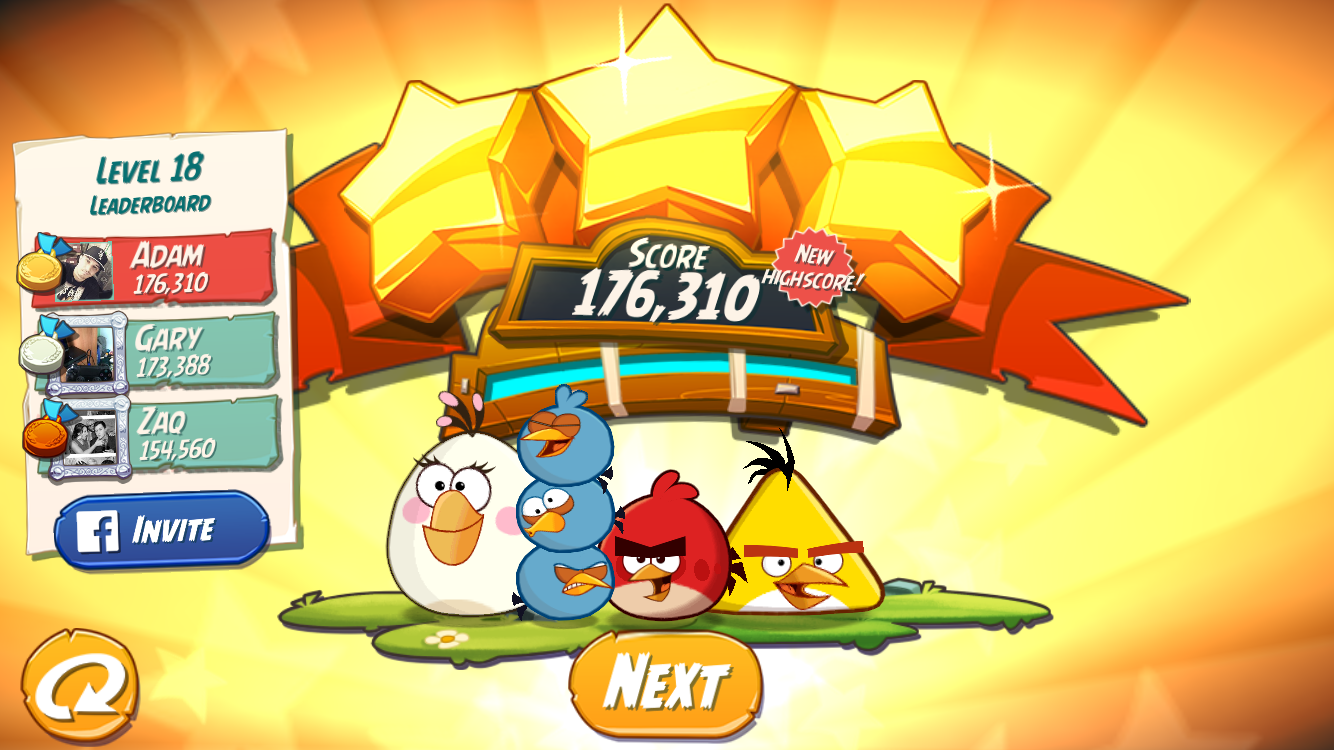 FosterAMF: Angry Birds 2: Level 18 (iOS) 176,310 points on 2015-10-26 23:54:26