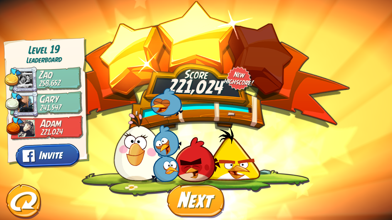 FosterAMF: Angry Birds 2: Level 19 (iOS) 221,024 points on 2015-10-26 23:56:22