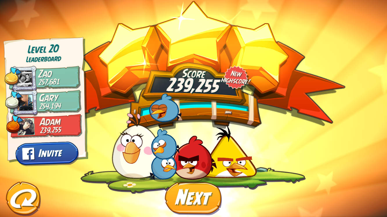 FosterAMF: Angry Birds 2: Level 20 (iOS) 239,255 points on 2015-10-28 01:02:43