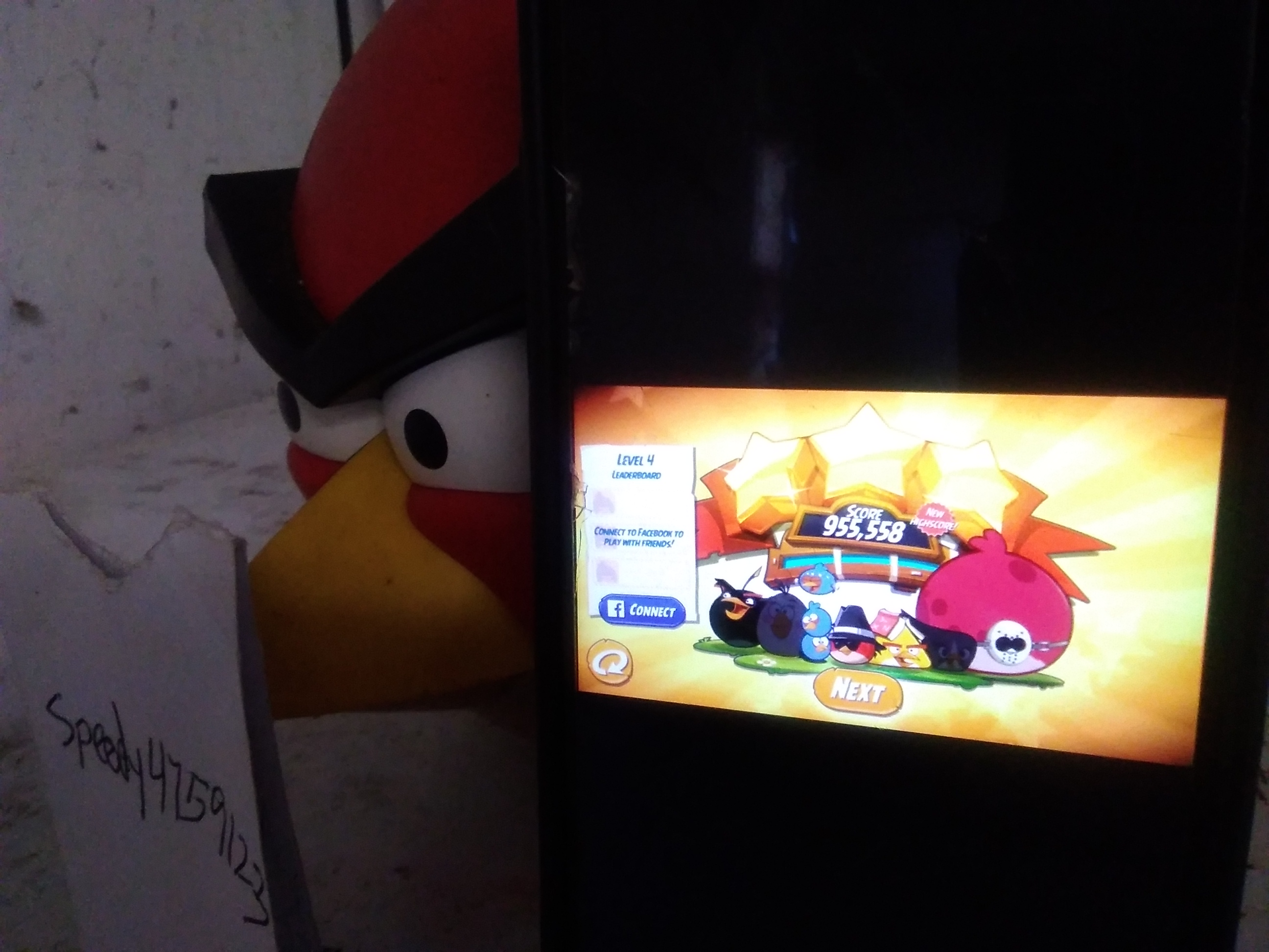 Angry Birds 2: Level 4 955,558 points