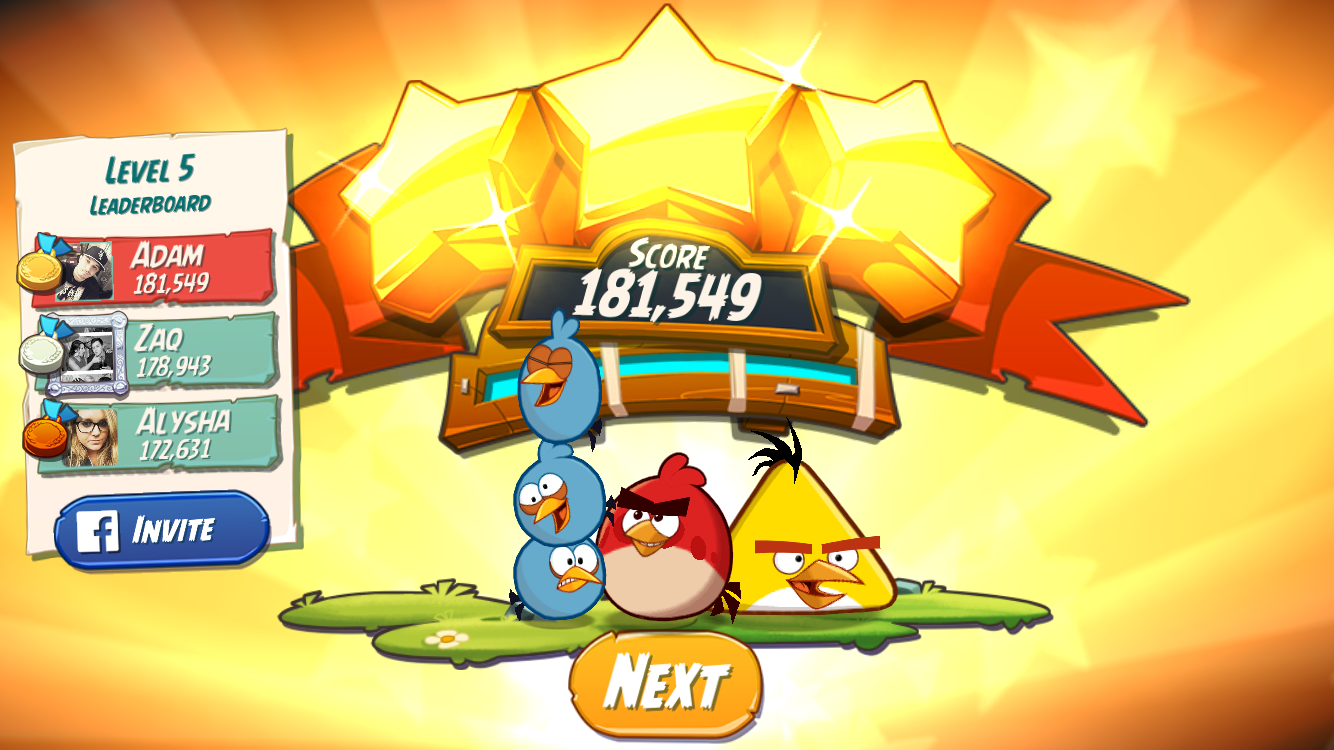 FosterAMF: Angry Birds 2: Level 5 (iOS) 181,549 points on 2015-10-22 02:55:54