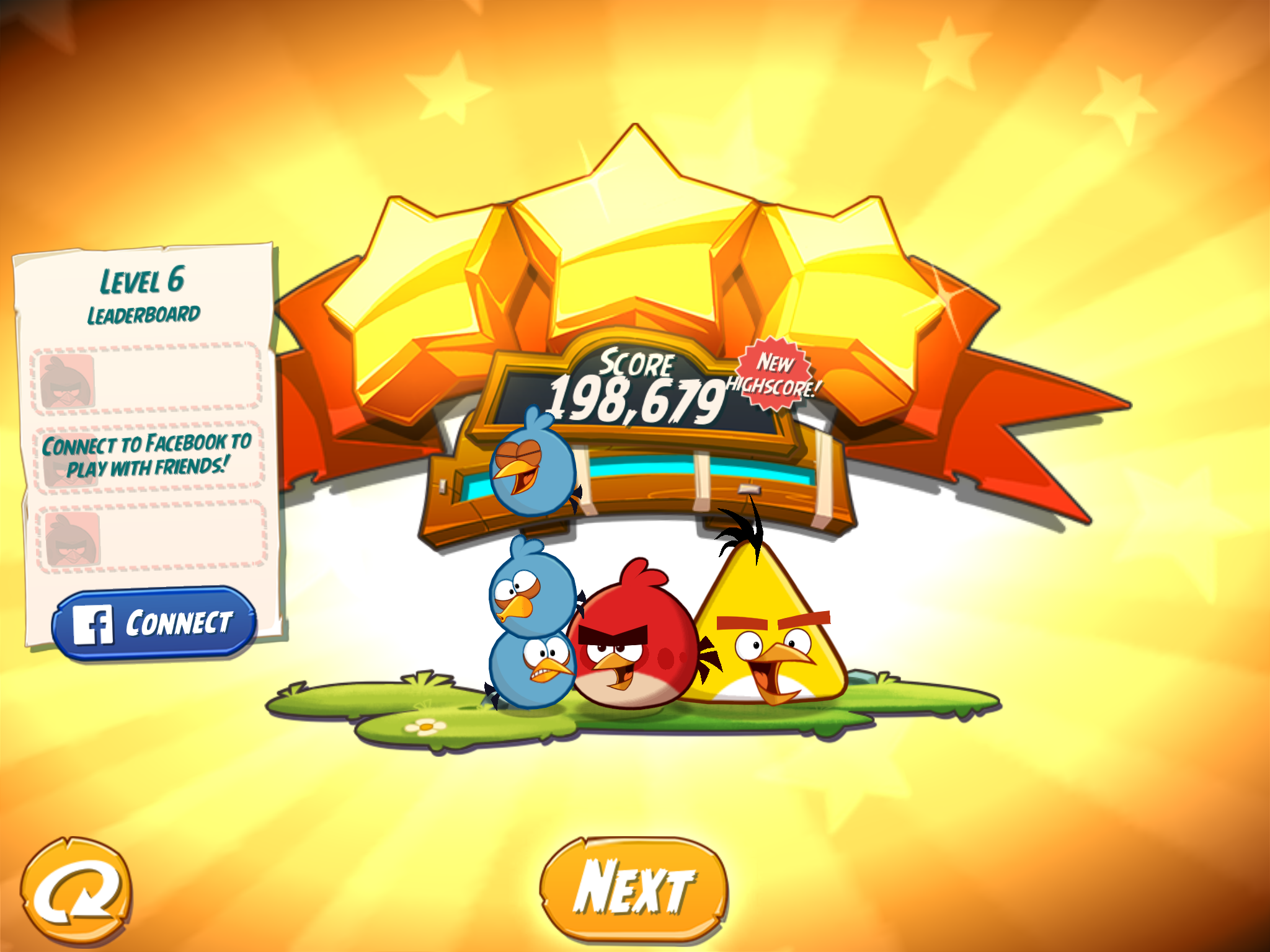 Angry Birds 2: Level 6 198,679 points