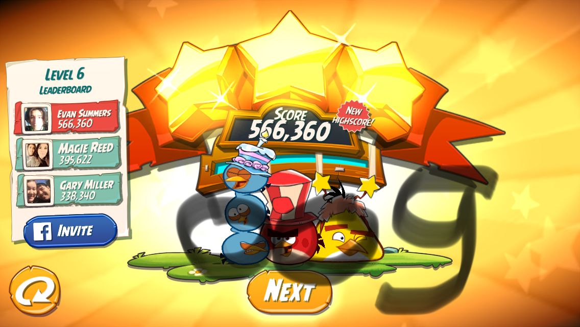 OOG: Angry Birds 2: Level 6 (iOS) 566,360 points on 2018-02-26 08:17:11