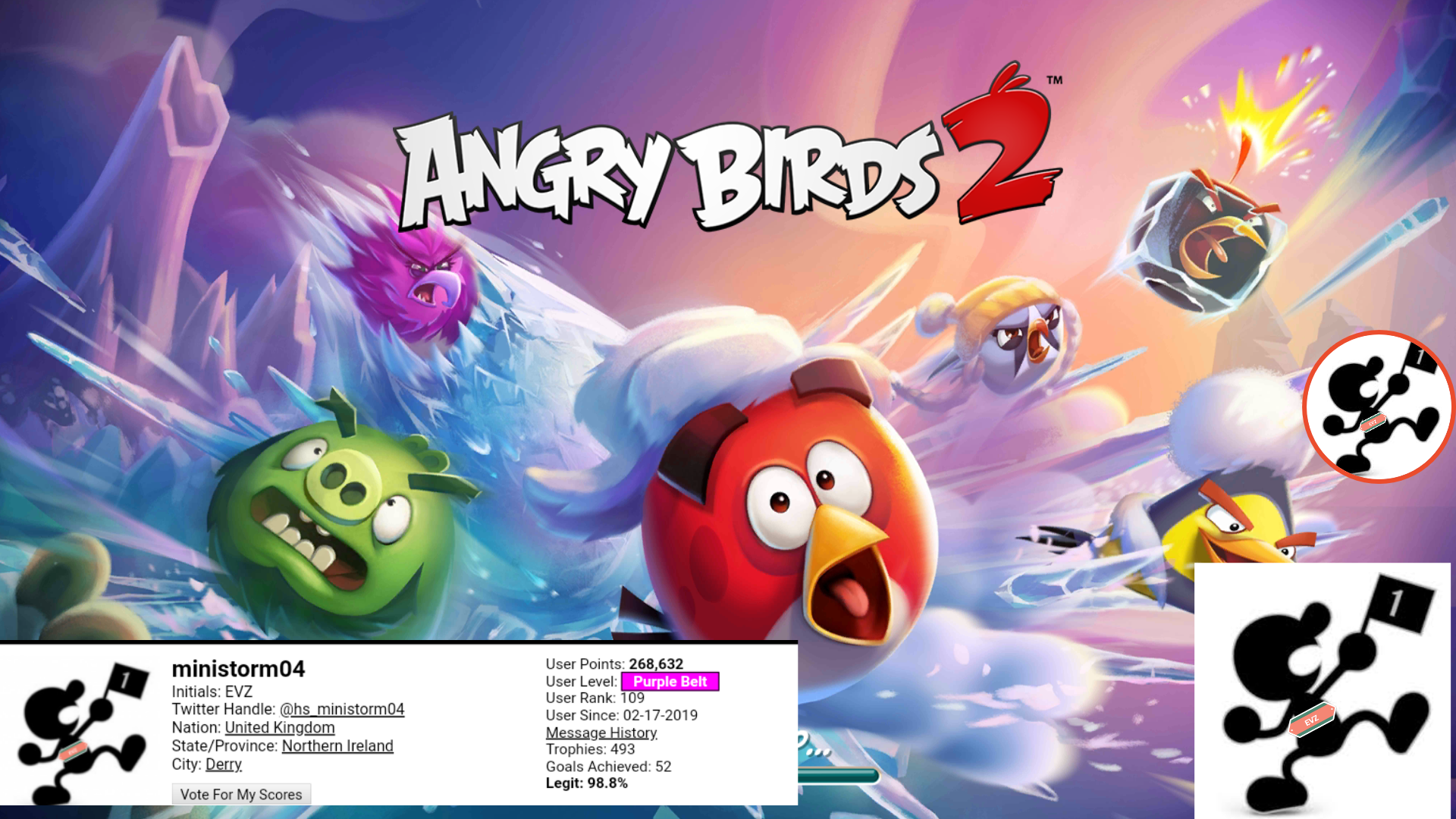 Angry Birds 2: Level 8 168,301 points
