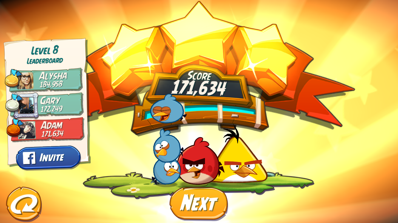FosterAMF: Angry Birds 2: Level 8 (iOS) 171,634 points on 2015-10-22 02:59:57