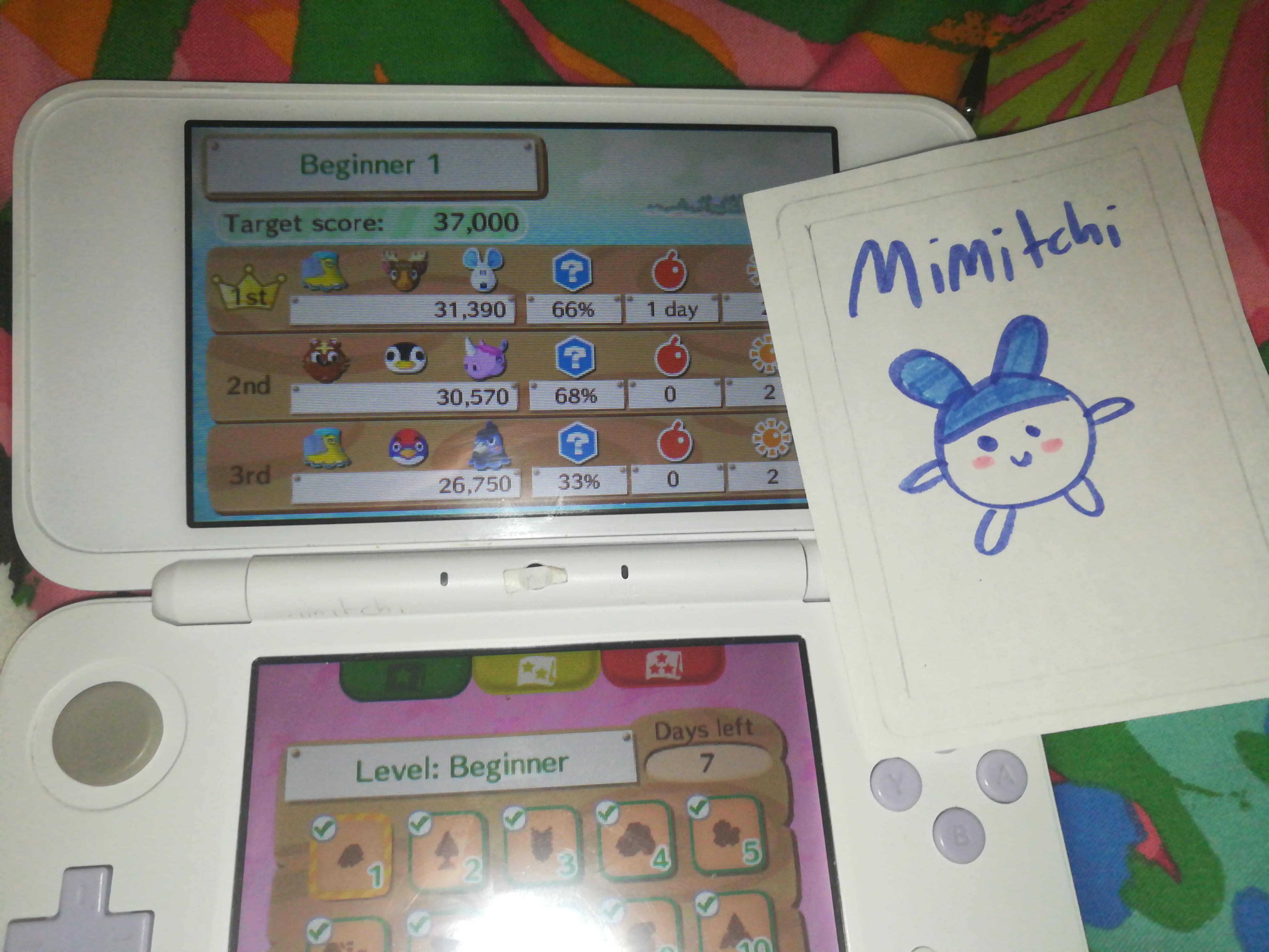 Mimitchi: Animal Crossing: New Leaf: Desert Island Escape [Beginner 01] (Nintendo 3DS) 31,390 points on 2020-02-16 04:17:17