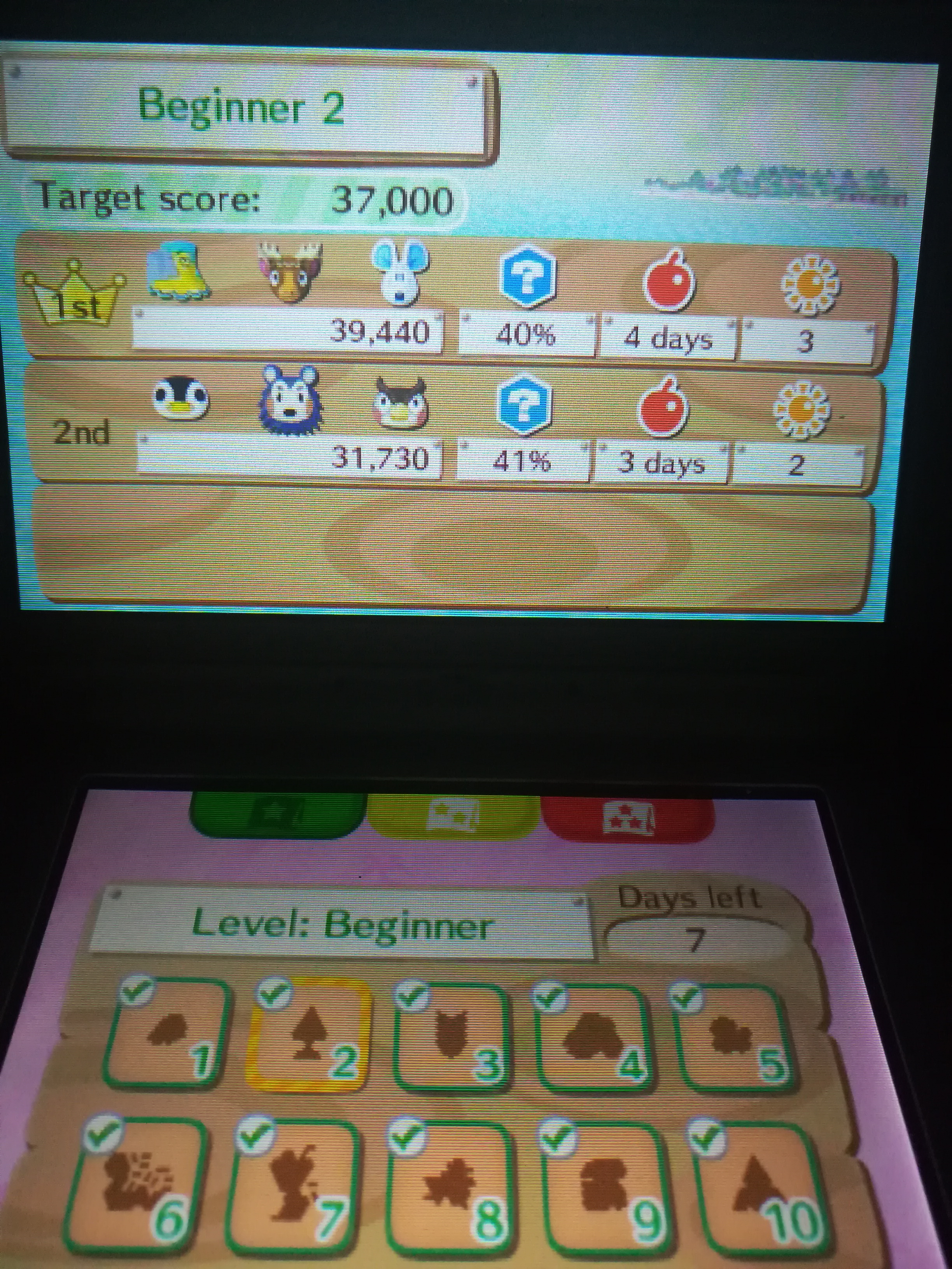 Animal Crossing: New Leaf: Desert Island Escape [Beginner 02] 39,440 points