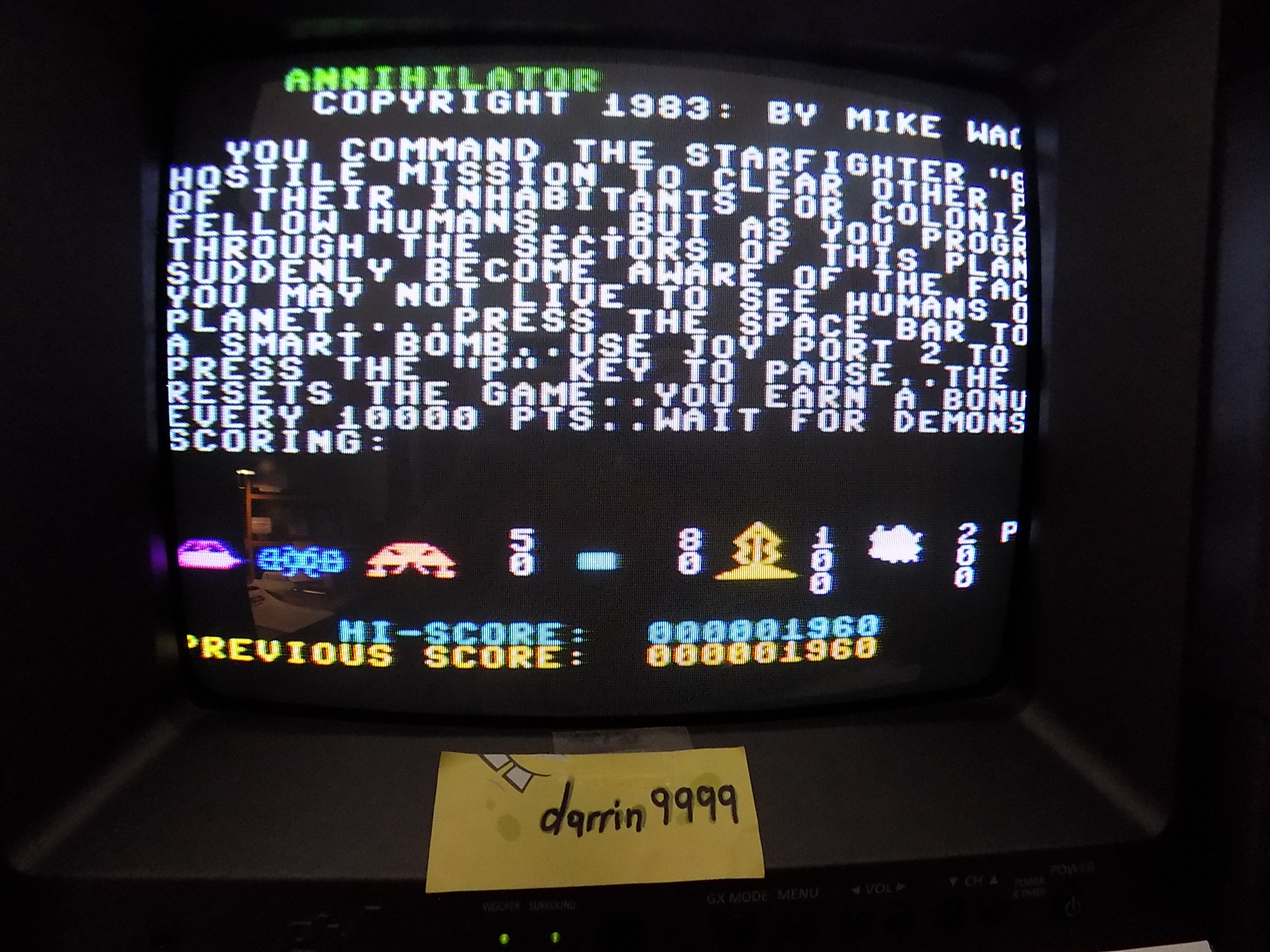 darrin9999: Annihilator (Commodore 64 Emulated) 1,960 points on 2019-08-20 15:56:39