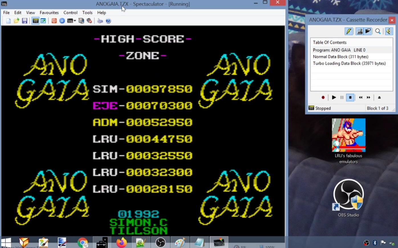 LuigiRuffolo: Ano Gaia (ZX Spectrum Emulated) 44,750 points on 2021-01-18 12:09:42