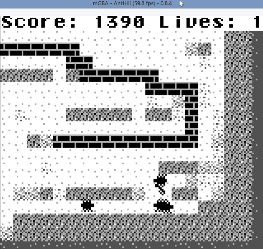 LuigiRuffolo: Ant Hill (Game Boy Emulated) 1,390 points on 2021-01-17 02:55:46