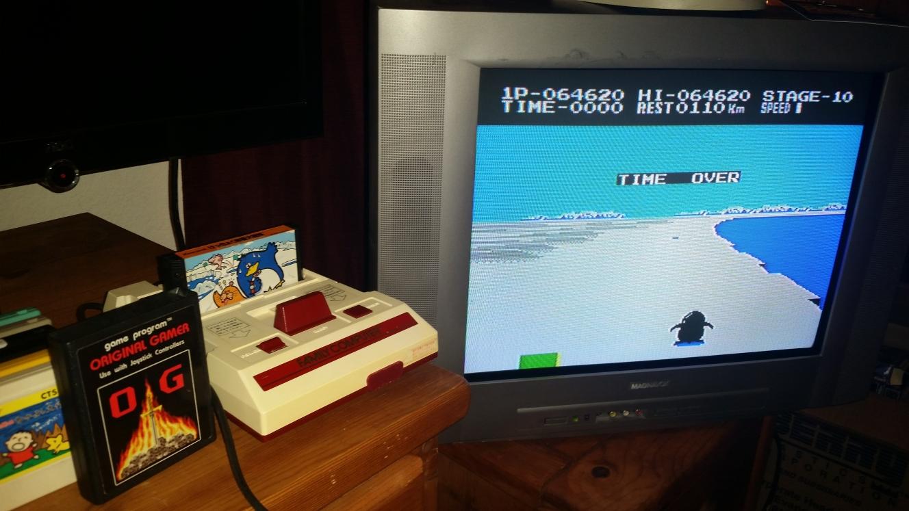 OriginalGamer: Antarctic Adventure: Level 1 Start (NES/Famicom) 64,620 points on 2016-06-26 21:31:20