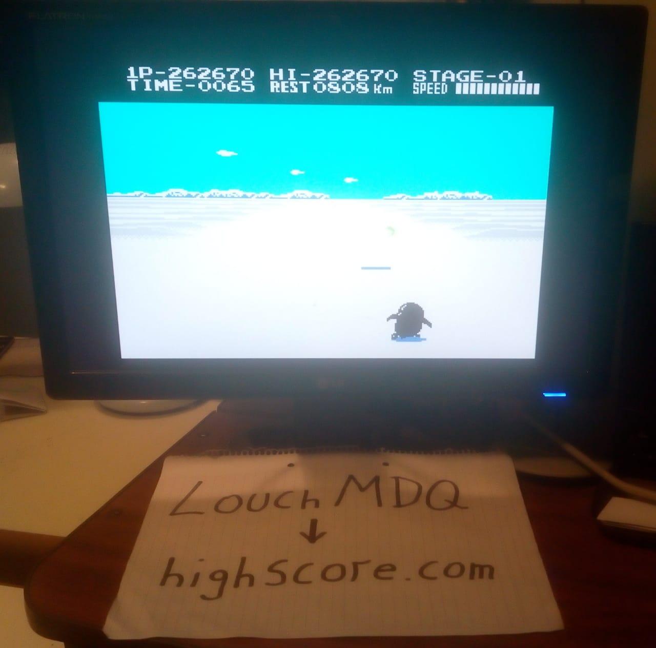 LouchMDQ: Antarctic Adventure: Level 1 Start (NES/Famicom Emulated) 262,670 points on 2020-06-20 17:11:00