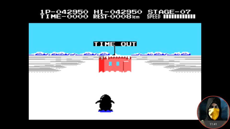 omargeddon: Antartic Adventure (MSX Emulated) 42,950 points on 2018-04-24 12:53:32