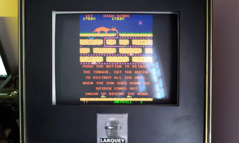 Larquey: Anteater (Arcade Emulated / M.A.M.E.) 17,220 points on 2018-06-03 10:19:46