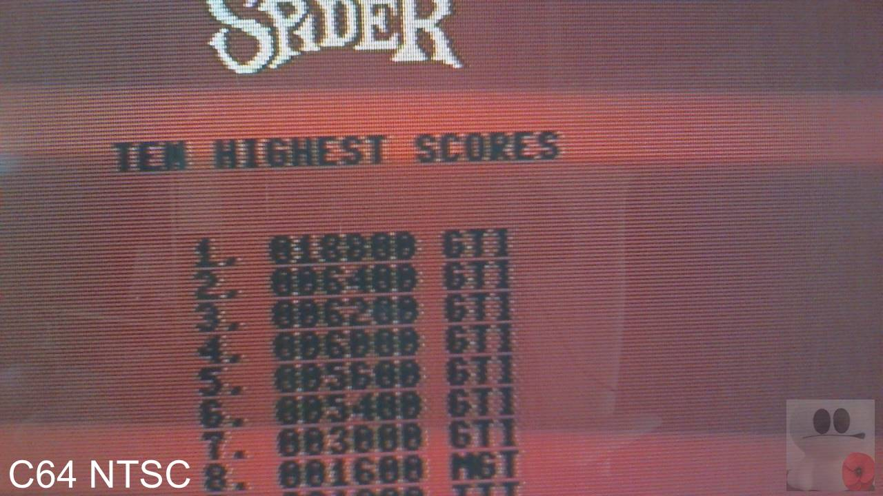 GTibel: Apple Cider Spider: Level 0 (Commodore 64) 18,800 points on 2020-02-15 06:44:38