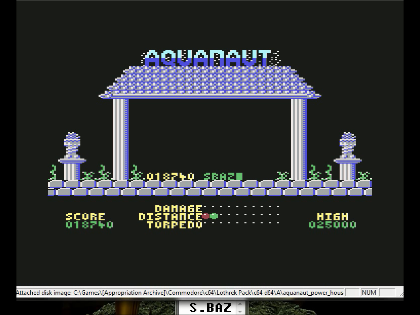 S.BAZ: Aquanaut (Commodore 64 Emulated) 18,740 points on 2016-06-14 23:02:56