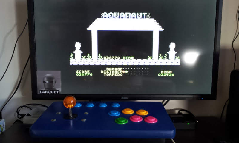 Larquey: Aquanaut (Commodore 64 Emulated) 38,770 points on 2018-09-02 07:50:34