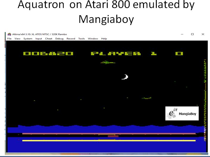 MangiaBoy: Aquatron (Atari 400/800/XL/XE Emulated) 6,820 points on 2018-10-27 07:51:59