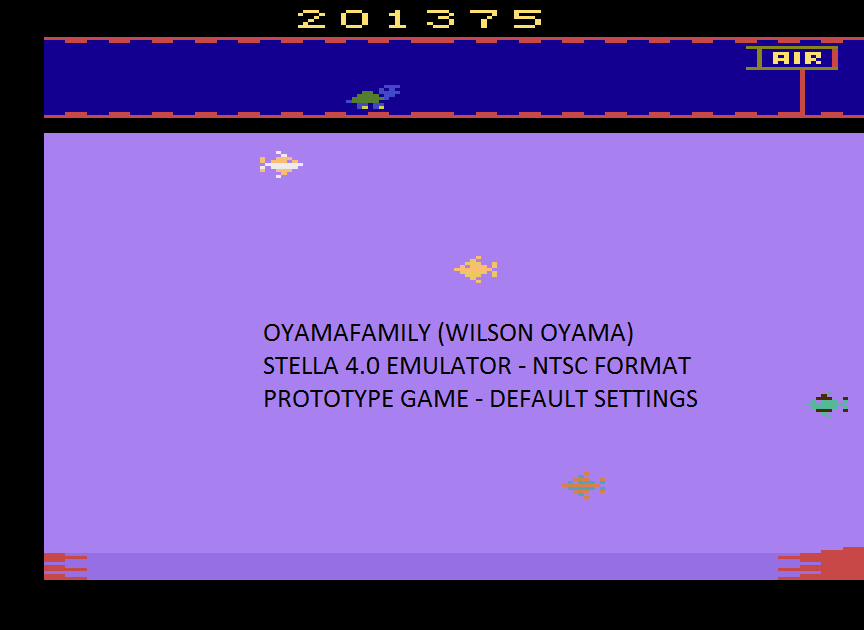 oyamafamily: Aquaventure (Atari 2600 Emulated) 201,375 points on 2016-05-21 20:42:38