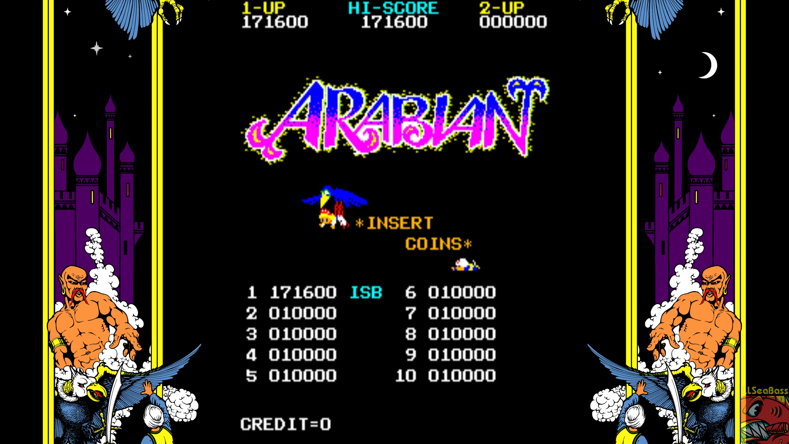 ILLSeaBass: Arabian (Arcade Emulated / M.A.M.E.) 171,600 points on 2019-06-03 09:34:24