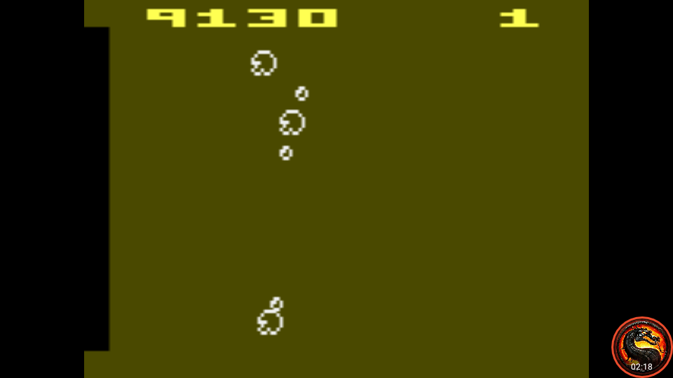 omargeddon: Arcade Asteroids (Atari 2600 Emulated Novice/B Mode) 9,130 points on 2020-10-17 18:16:38