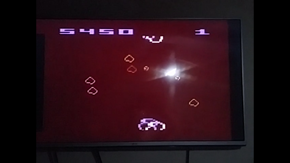 Arcade Asteroids 5,450 points