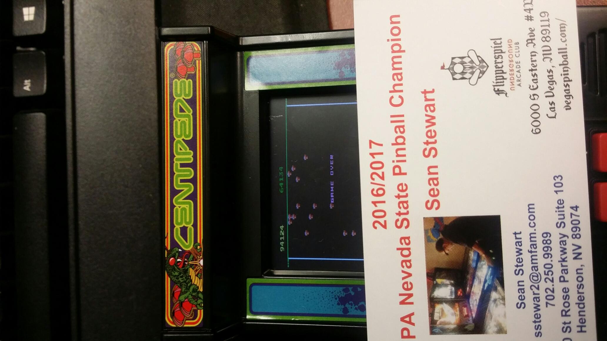 Arcade Classics 03: Centipede 94,124 points