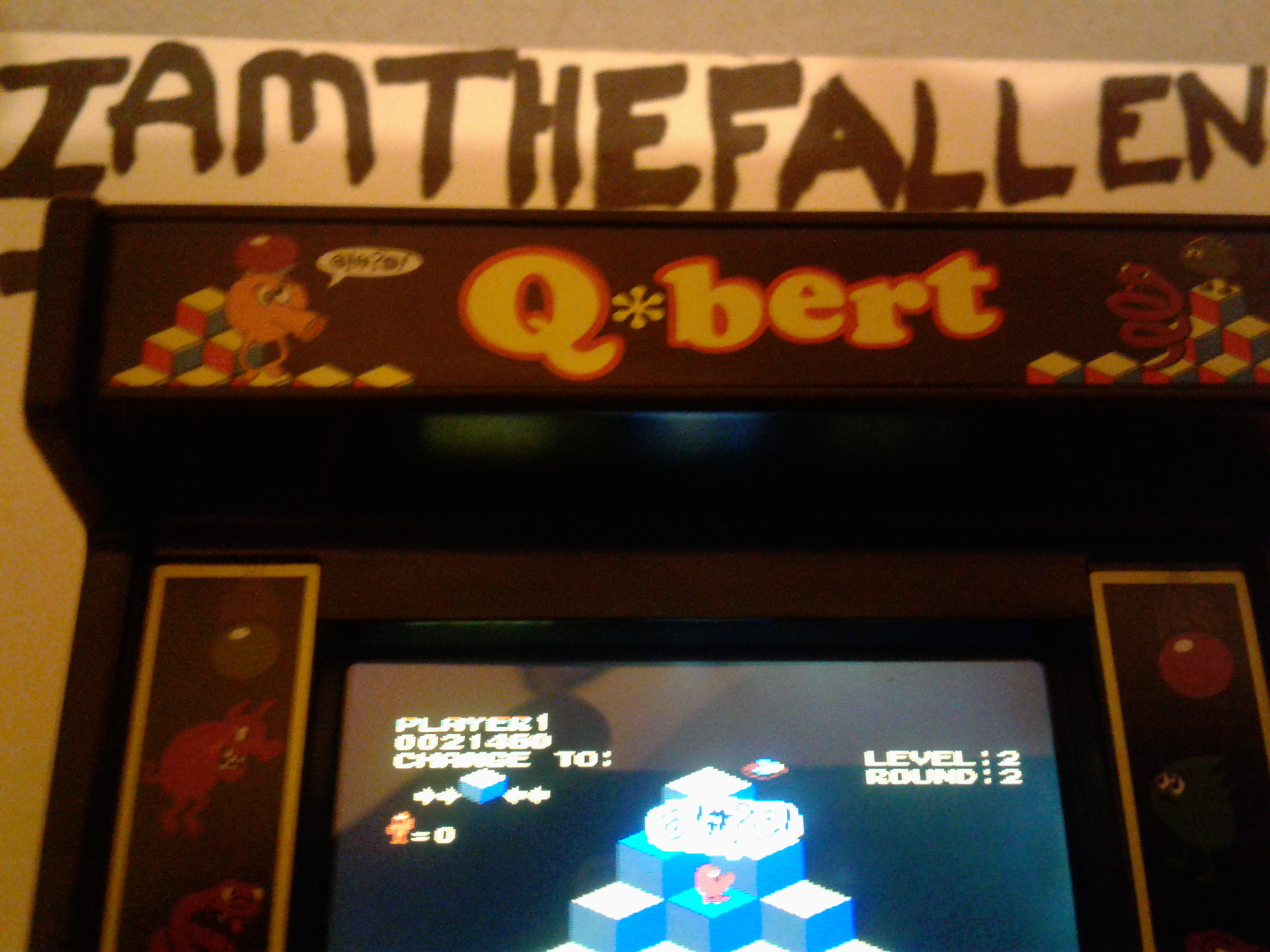 iamthefallen1: Arcade Classics 04: Q*bert (Dedicated Handheld) 21,460 points on 2017-09-13 16:43:39
