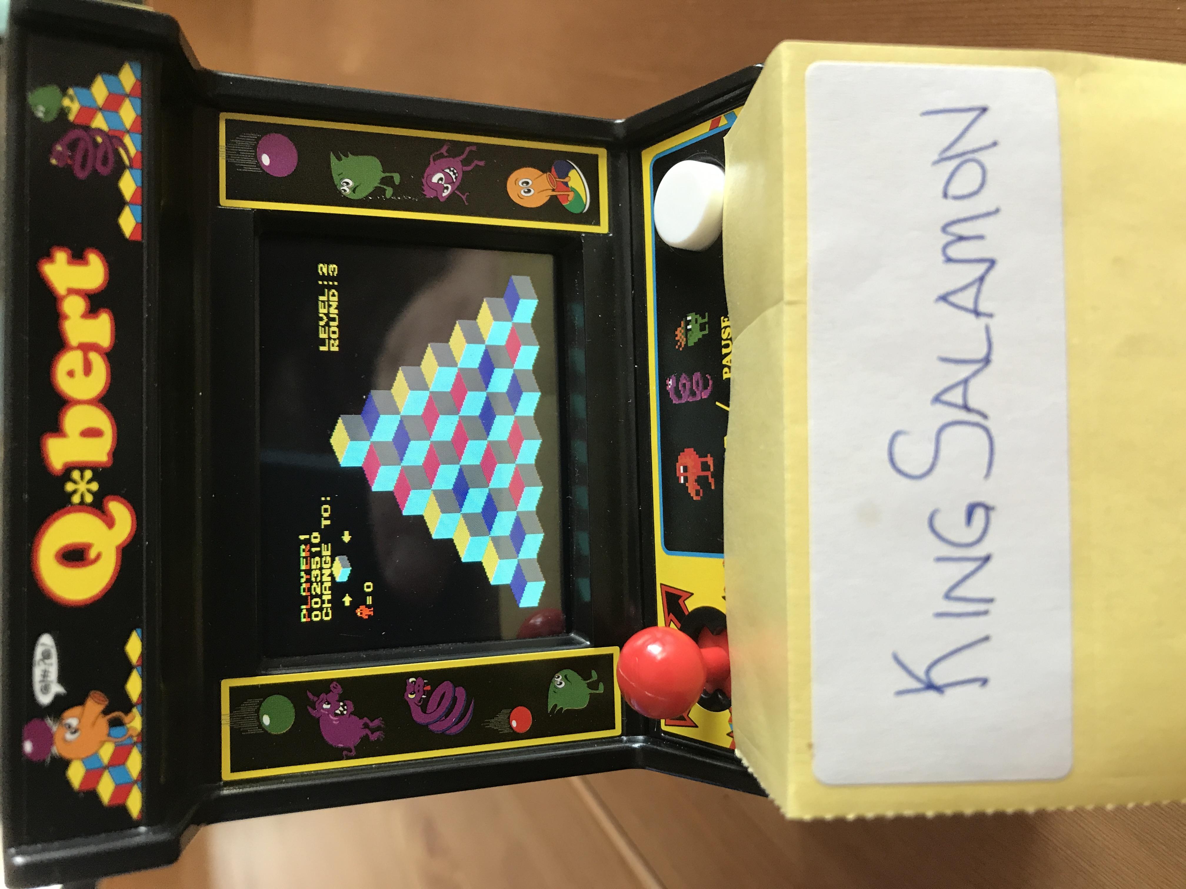 KingSalamon: Arcade Classics 04: Q*bert (Dedicated Handheld) 23,510 points on 2018-05-13 19:20:57