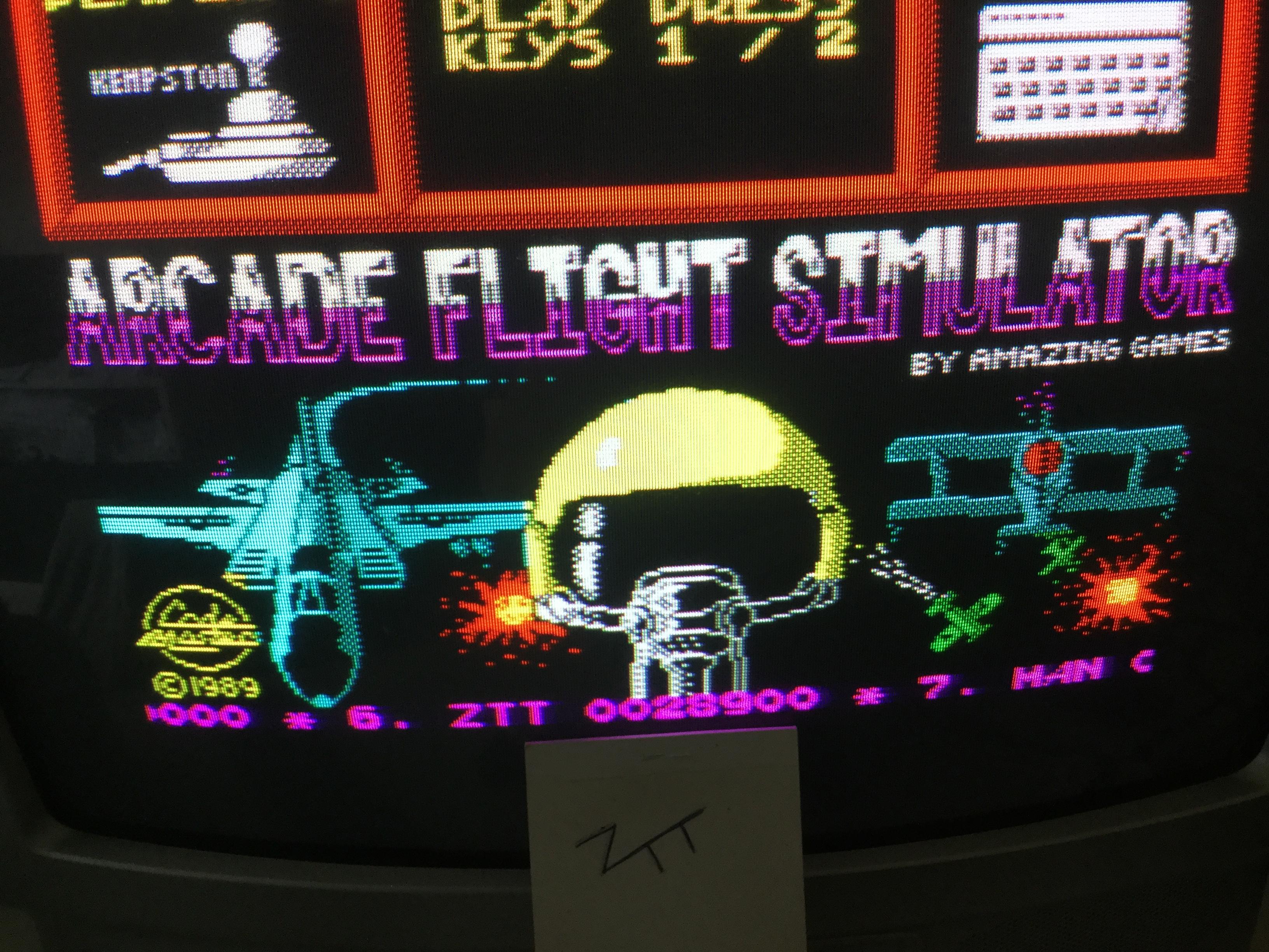 Frankie: Arcade Flight Simulator (ZX Spectrum) 28,900 points on 2017-07-02 03:42:25