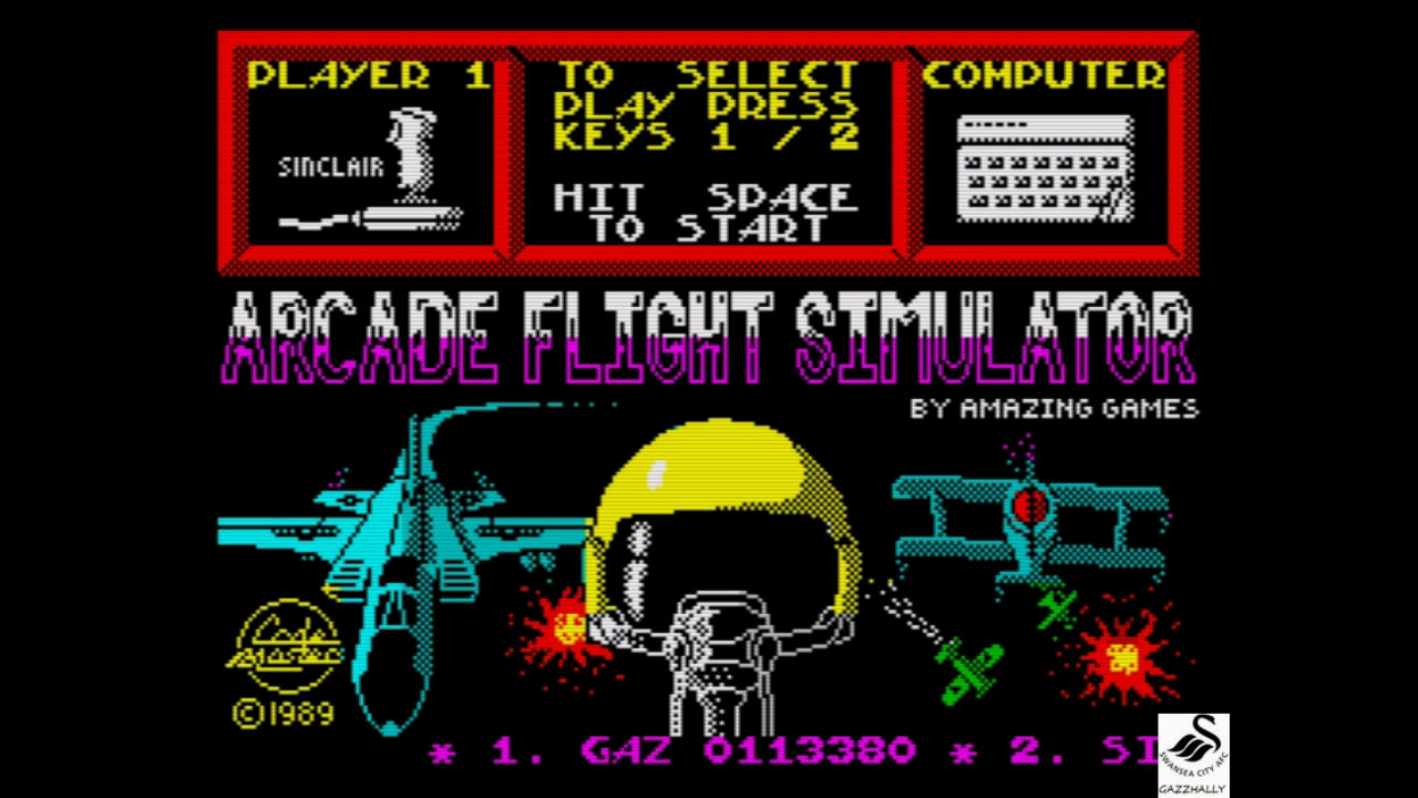 gazzhally: Arcade Flight Simulator (ZX Spectrum Emulated) 113,380 points on 2017-08-08 12:59:50