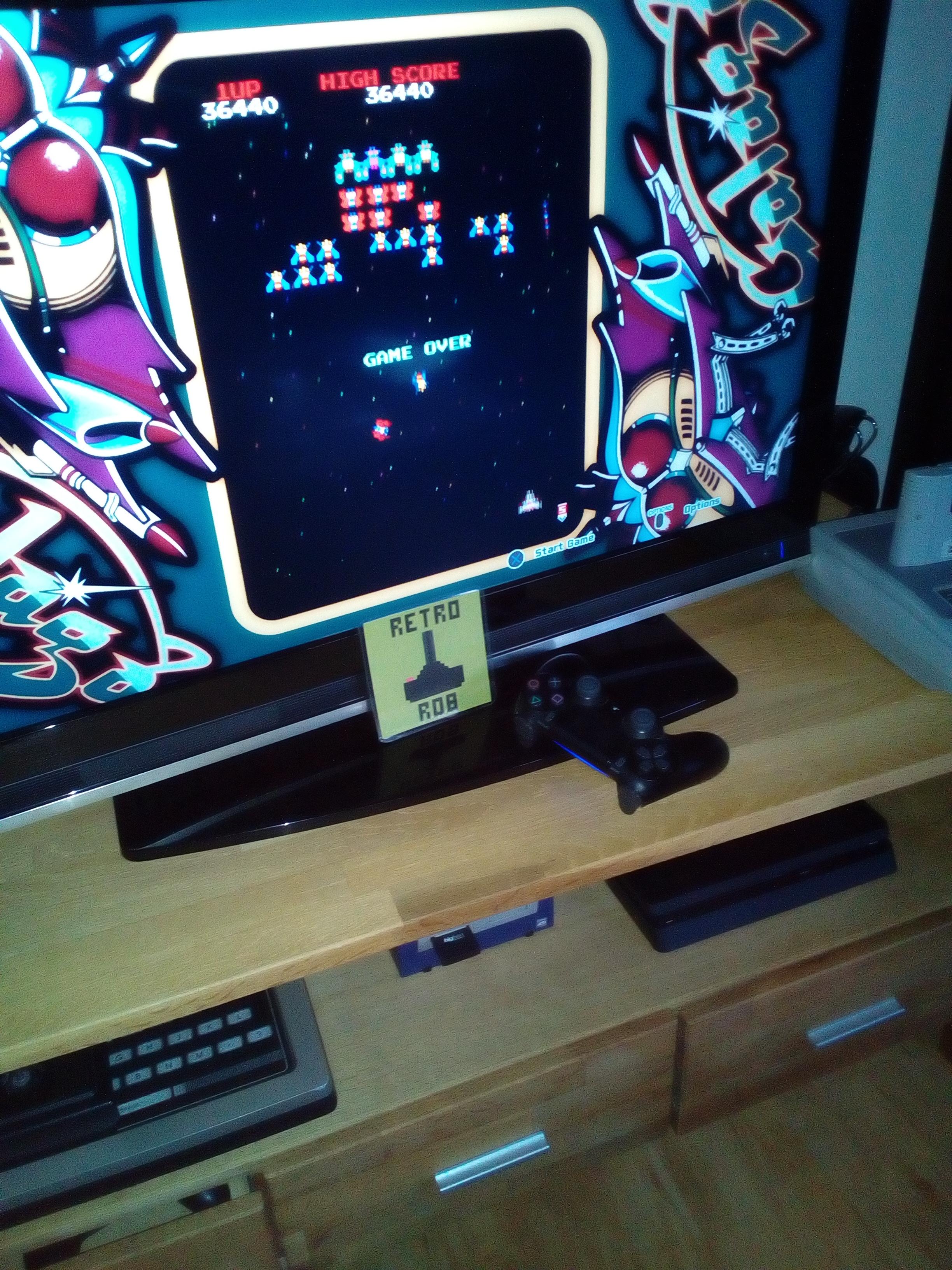 RetroRob: Arcade Game Series: Galaga (Playstation 4) 36,440 points on 2020-07-06 03:29:01