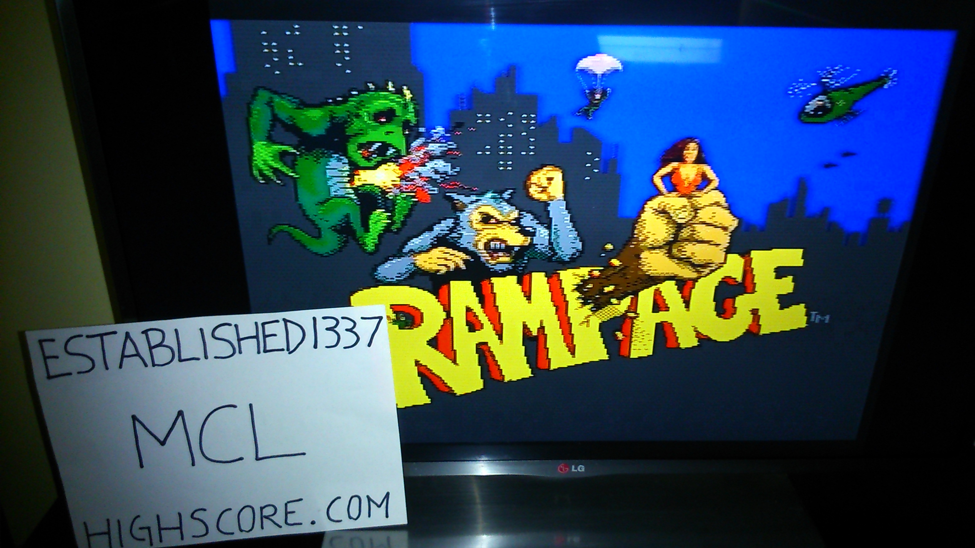 Established1337: Arcade Party Pak: Rampage [normal] (Playstation 1) 37,775 points on 2018-08-16 11:30:19