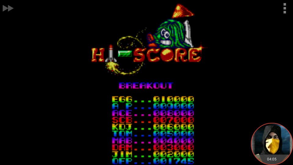 omargeddon: Arcade Smash Hits: Breakout (Sega Master System Emulated) 1,745 points on 2018-04-15 20:48:51