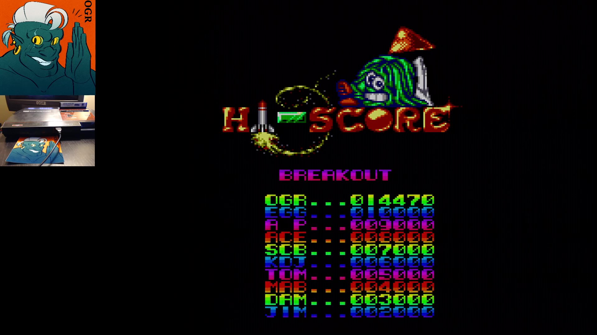 AwesomeOgre: Arcade Smash Hits: Breakout (Sega Master System) 14,470 points on 2020-01-19 12:06:27